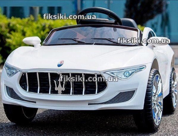 Детский электромобиль Maserati T-76-37 WHITE, Дитячий електромобiль