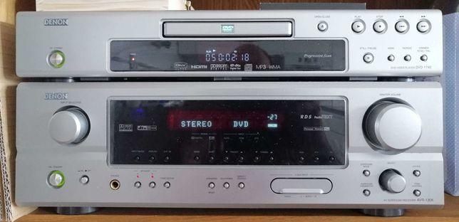 Zestaw kina domowego Denon AVR-1306 + DVD-1740 + kolumny Eltax