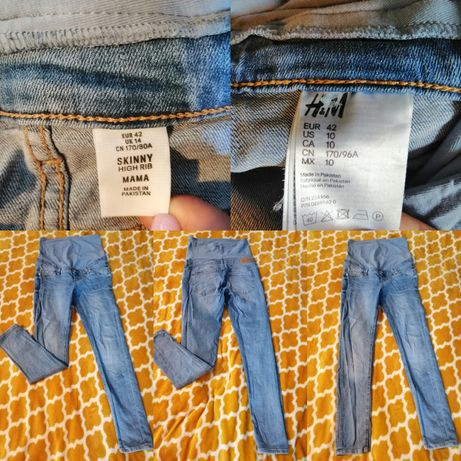 Spodnie jeansowe ciążowe H&M Mama rozmiar 42 XL