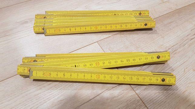 Metrówka metr PRL drewniany 2 m