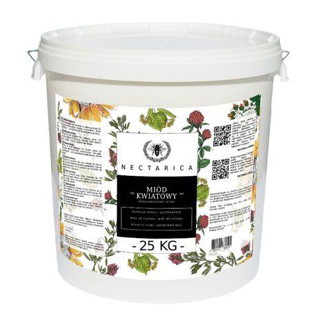 Miód Ukraiński Premium w wiadrach 25 kg. HURT od 75 kg