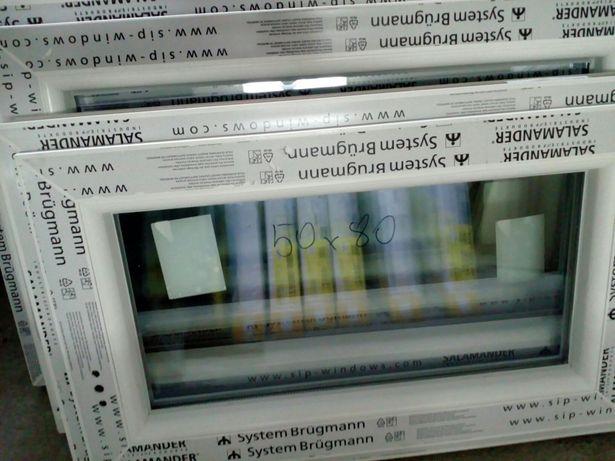 Sprzedam okno pcv nowe wys 50 szer 80 uchylno- rozwierne . TANIO .
