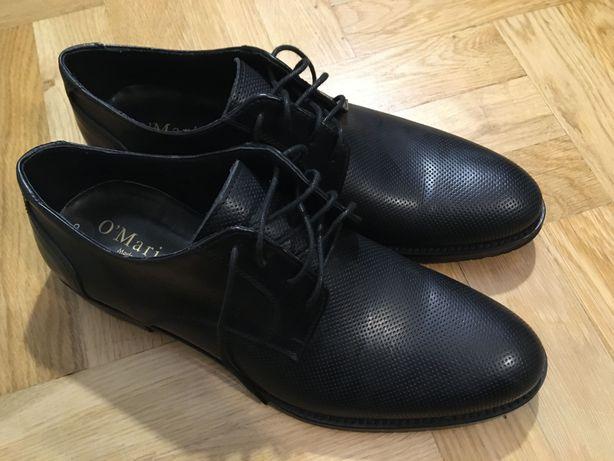 Eleganckie buty włoskie O'Mario 43 skóra naturala NOWE