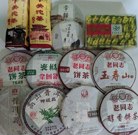 Оригинальный китайский чай:пуэры,улуны,красные чаи.