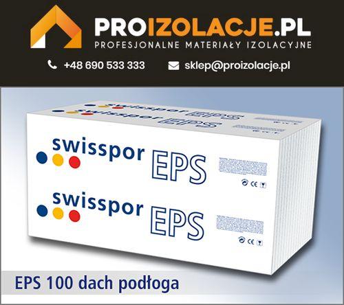 Styropian biały EPS 100 Dach Podłoga 0,036 / SWISSPOR w super cenie!!!