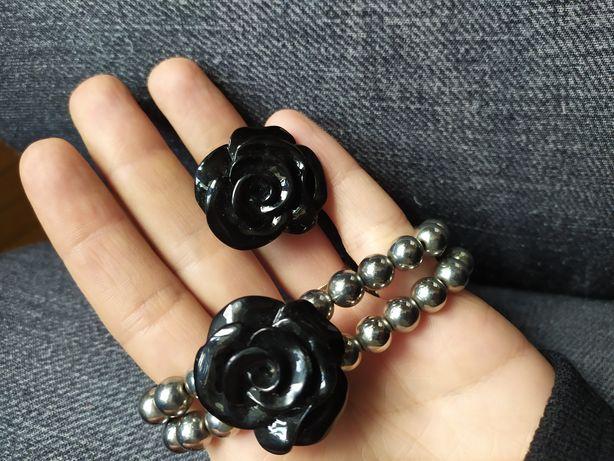 Komplet biżuterii pierścionek+bransoletka