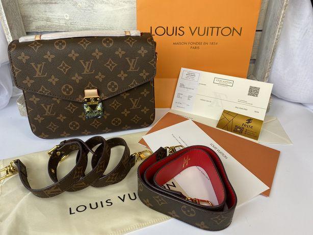 Torebka Louis Vuitton monogram METIS skóra naturalna i canvas Premium