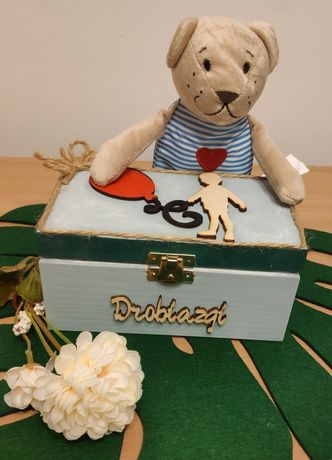 Szkatułka dla chłopca pudełko na drobiazgi na zegarki męską biżuterię