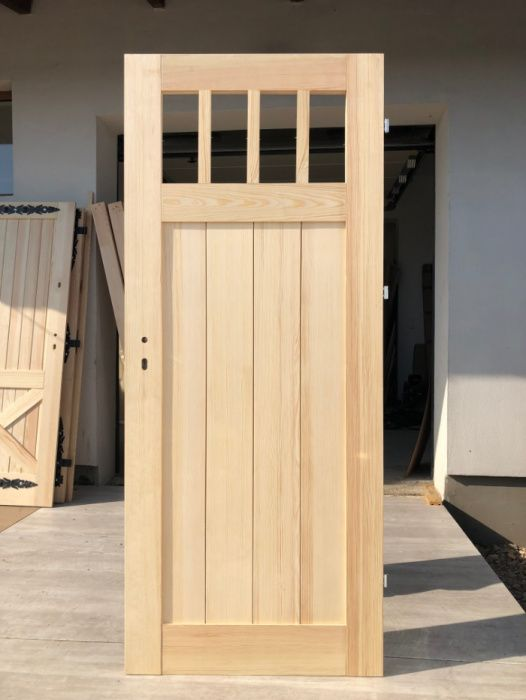 Drzwi drewniane frezowane sosna, wewnętrzne Grzybno - image 1