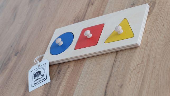 Układanka montessori, kółko, kwadrat, trójkąt