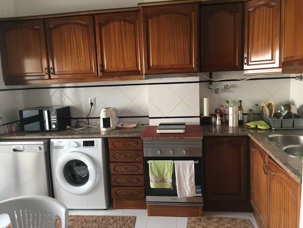 Armários de cozinha usados madeira maciça apenas 300€