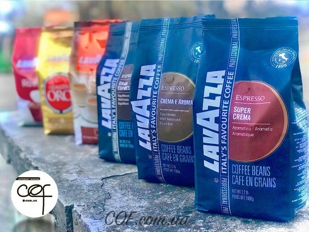 Кофе в зернах Lavazza Qualita Oro Rossa Espresso Crema кава лавацца