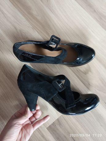 Clarks nowe skórzane buty, rozm. 40