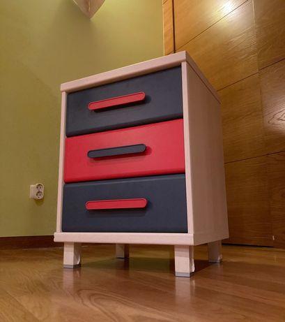 Módulo de gavetas/mesa de cabeceira