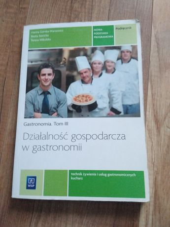 Podręcznik, działalność gospodarcza w gastronomii