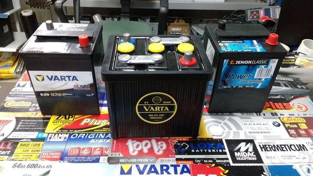 Akumulator Varta Classic zabytek oldtimer ebonit 6V 84Ah 390A Kraków
