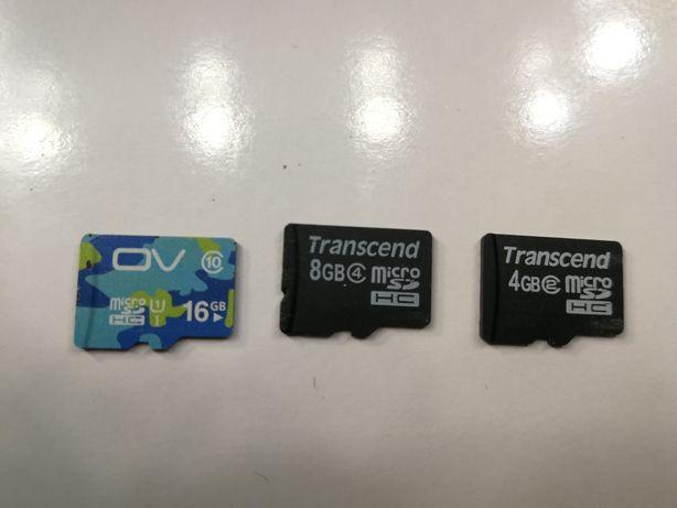 Ката памяти Transcend микро SD 8Gb, 4Gb