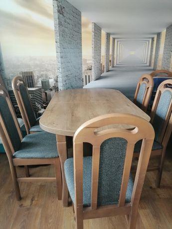 Stół z krzesłami rozkladany-PILNIE
