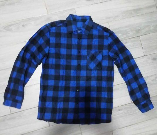Рубашка мужская байковая фланеливая теплая в клетку М.