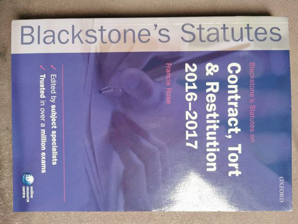 Contract& tort & restitution 2016- 2017 Blackstone's Statues