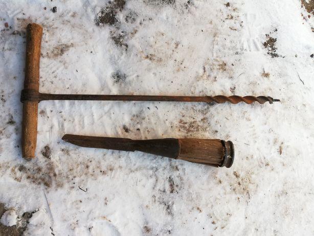 Инструменты зубило, дрели, пила