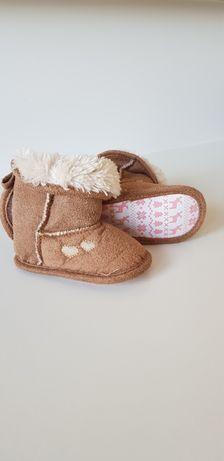 Zimowe buty niechodki 0-6 mcy