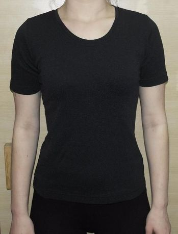 Как новая футболка спортивная черная
