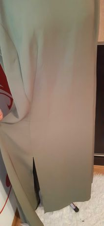 suknia oliwkowa 48