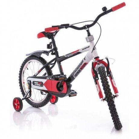 Детский велосипед Azimut Stitch Красный с черным, оранжевый с серым