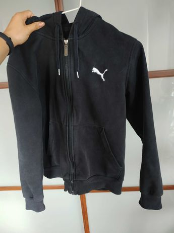 Czarna rozpinana bluza z kapturem Puma S