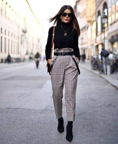 Стильные укороченные брюки H&M с завышенной талией