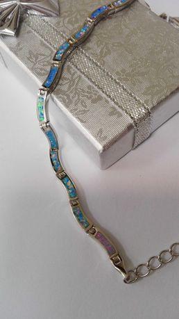 Oryginalna srebrna bransoletka, próba 925
