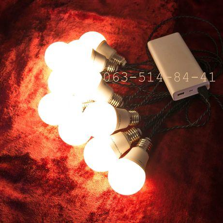 USB 5v ретро гирлянда для выездных мероприятий ретрогирлянда лофт