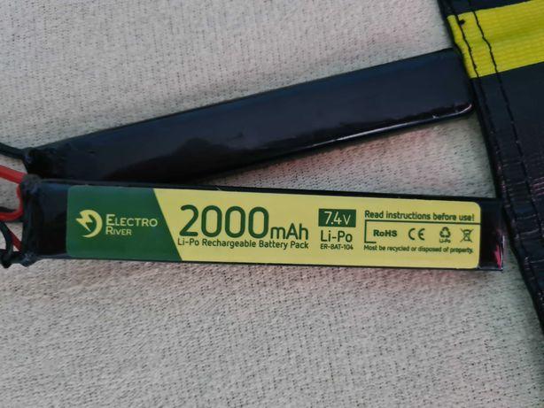 Akumulator LiPo 7,4v ASG Electro River + LiPo bag
