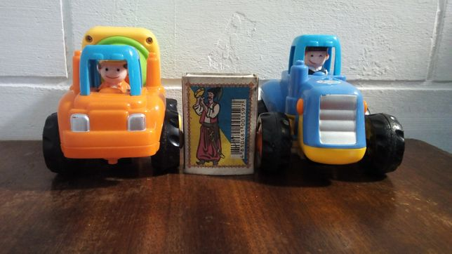 Машинки Huile Toys Бетономешалка, трактор и прицеп