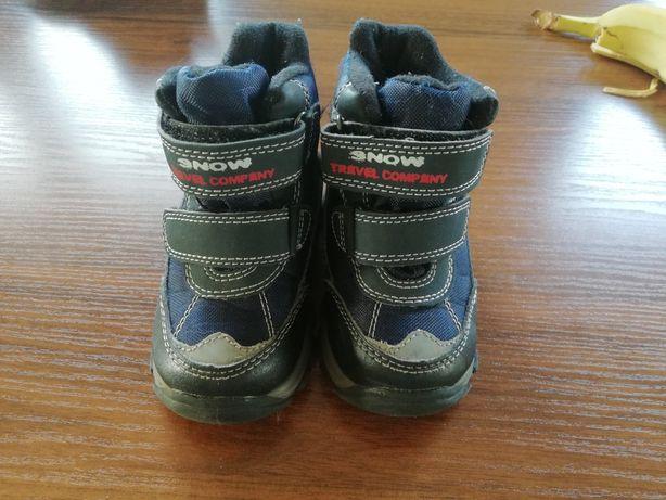 Buty zimowe, kozaki dla chłopca 22