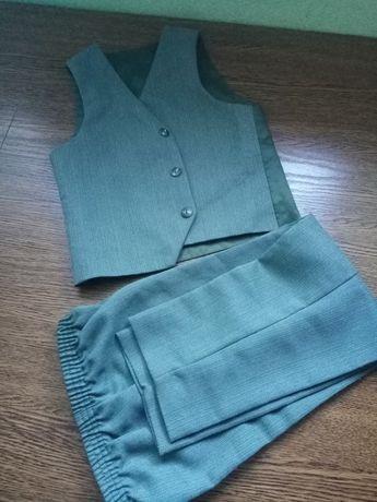 Eleganckie spodnie +kamizelka 5 lat