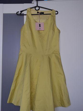 Żółta sukienka XL