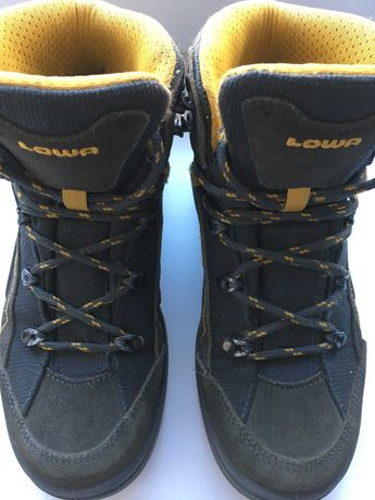 Треккинговые ботинки Lowa с Gore-tex на холодную осень, 34 р.