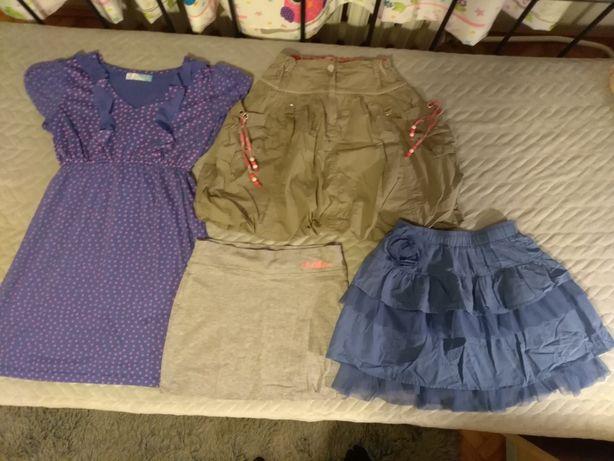 Sprzedam spódniczki i sukienkę rozm. 146-152 cm