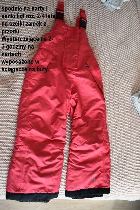 Spodnie na narty i sanki roz. 2-4 lata Kraków - image 1