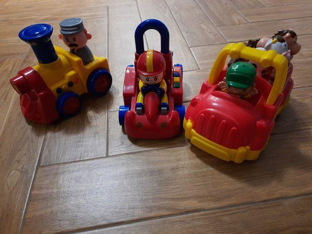 Lokomotywa, wyścigówka, traktorek - zabawki interaktywne
