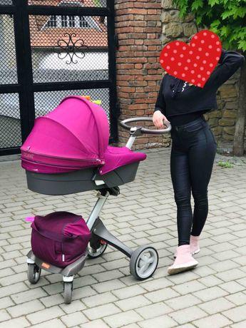 Детская универсальная коляска 2 в 1 Dsland Xplory V8 Red/Black