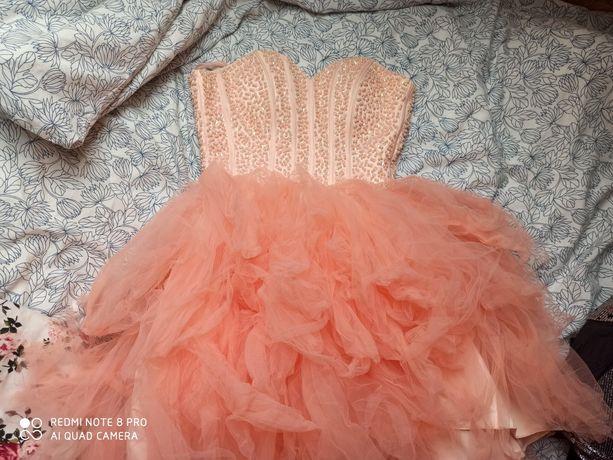 Sukienka balowa tiul róż