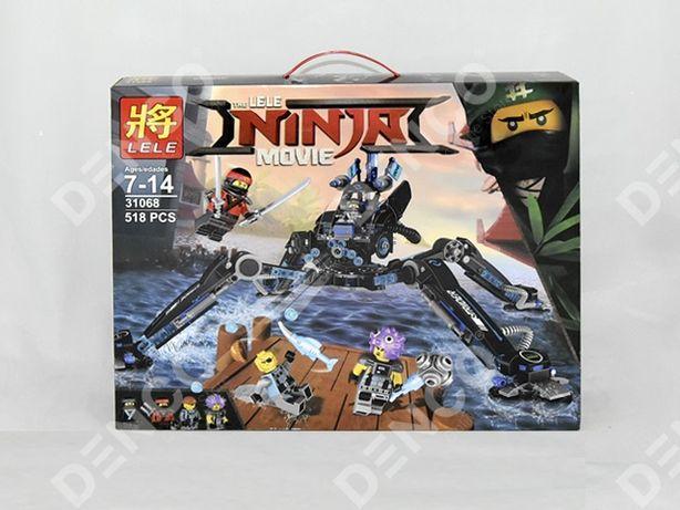 Конструктор LELE 31068 Ninja Водяной робот LEGO Ninjago 70611