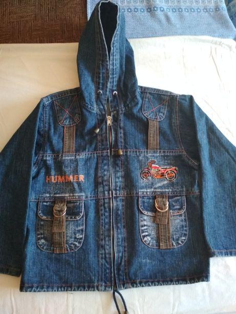 джинсовая куртка (парка) на рост 104-116 см