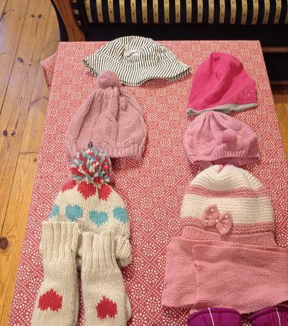 Czapki i rękawiczki dla dziewczynki 8-12