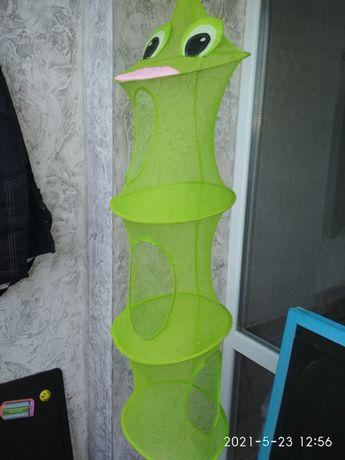 Подвесная система сетка  для  игрушек  ikea на 3 секции.