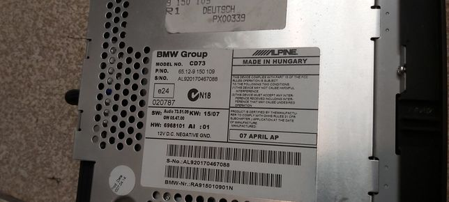 Radio BMW Professional i mieszek biegów