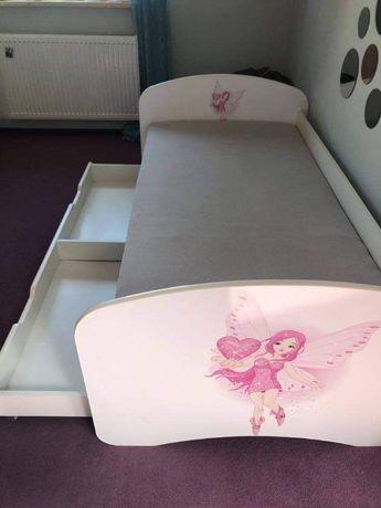 Łóżeczko Babydreams 180x90 z szufladą i materacem+baldachim